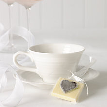 Buy Choc on Choc White Chocolate Party/Wedding Favours, Silver Heart, x 20, 440g Online at johnlewis.com