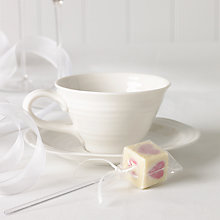 Buy Choc on Choc White Chocolate Party/Wedding Favours, Pink Heart Lolly, x 20, 720g Online at johnlewis.com