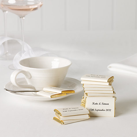 Buy Personalised Nepolitan Foiled Milk Chocolates, Gold, Bag of 50, 500g Online at johnlewis.com