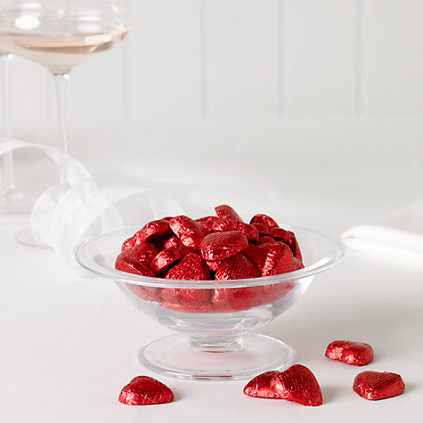 Buy Milk Chocolate Hearts x 100, Red, 600g Online at johnlewis.com