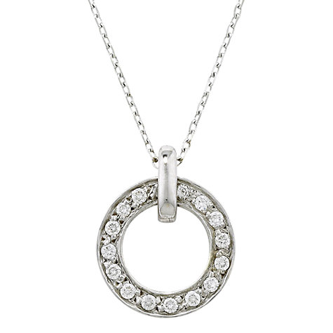 Buy London Road White Gold Diamond Meridian Pendant Online at johnlewis.com
