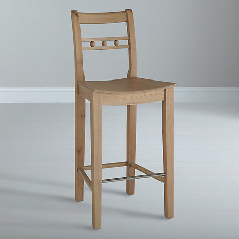 Buy Neptune Suffolk Bar Stool, Seasoned Oak Online at johnlewis.com