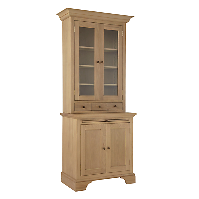 Neptune Henley 3ft Glazed Rack Oak Dresser, Oak