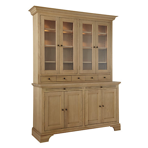 Buy Neptune Henley 5ft Glazed Rack Oak Dresser, Oak Online at johnlewis.com