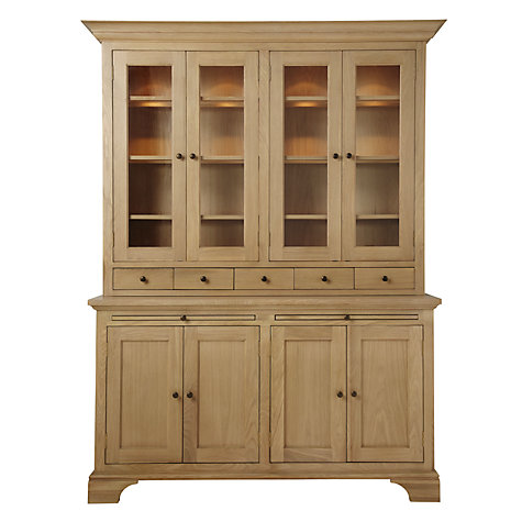 Buy Neptune Henley 5ft Glazed Rack Dresser, Oak Online at johnlewis.com