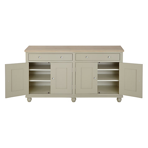 Buy Neptune Suffolk 6ft 4 Door Sideboard, Honed Slate Online at johnlewis.com