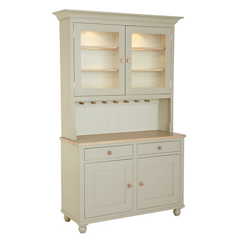 Buy Neptune Suffolk 4ft Glazed Rack Dresser, Honed Slate Online at johnlewis.com