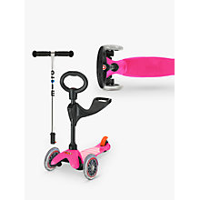 Buy Micro Mini Micro 3-in-1 Scooter with Seat and O-Bar Handle, Pink Online at johnlewis.com