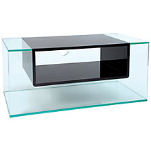 "Buy Greenapple GL59404 Cliff Television Stand for TVs up to 42"", Gloss Black Online at johnlewis.com"