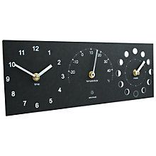 Buy ashortwalk Eco Moon/Temp/Time Clock Online at johnlewis.com