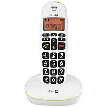 Buy Doro PhoneEasy 100W Single DECT Cordless Phone, White Online at johnlewis.com
