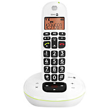 Buy Doro PhoneEasy 105WR Single DECT Cordless Phone and Answering Machine, White Online at johnlewis.com