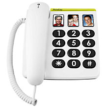 Buy Doro PhoneEasy 331PH Corded Phone, White Online at johnlewis.com
