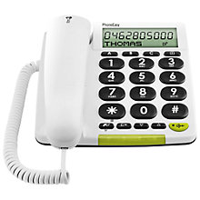 Buy Doro PhoneEasy 312CS Corded Phone, White Online at johnlewis.com