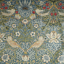 Buy Morris & Co Strawberry Thief PVC Tablecloth Fabric, Duck Egg Online at johnlewis.com