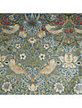 William Morris Strawberry Thief PVC Tablecloth Fabric, Duck Egg