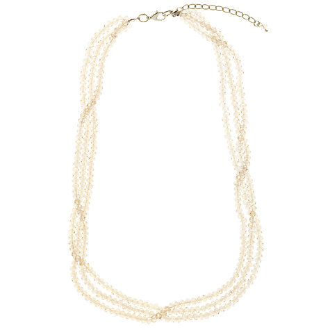 Buy Collection WEEKEND by John Lewis Code Grey Facetted High Shine Necklace, Grey Online at johnlewis.com