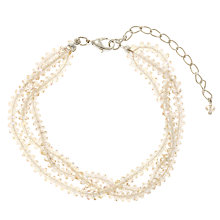 Buy Collection WEEKEND by John Lewis Grey Facetted High Shine Bracelet, Grey Online at johnlewis.com