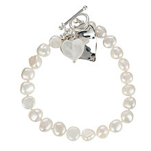 Buy Claudia Bradby Silver and Crystal Heart Pearl Bracelet Online at johnlewis.com
