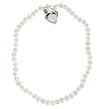Buy Claudia Bradby Silver Heart Pearl Necklace Online at johnlewis.com