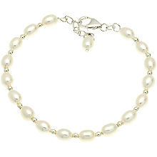 Buy Lido Pearls 1 Row Rice Freshwater Pearl Spacer Bracelet, White Online at johnlewis.com