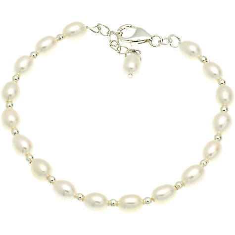 Buy Lido Pearls 1 Row Rice Freshwater Pearl Spacer Bracelet Online at johnlewis.com