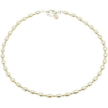 Buy Lido Pearls 1 Row Rice Freshwater Pearl Spacer Necklace Online at johnlewis.com
