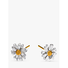Buy Alex Monroe Classic Daisy Stud Earrings, Silver Online at johnlewis.com