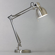 Buy John Lewis Mike Desk Lamp, Chrome Online at johnlewis.com