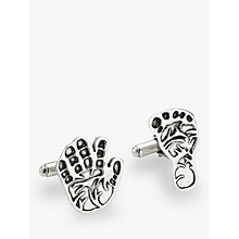 Buy Under the Rose Personalised Hand or Footprint Cufflinks, Cutout Online at johnlewis.com