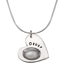 Buy Between You and I Personalised Fingerprint Heart Pendant Necklace Online at johnlewis.com