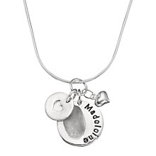 Buy Under The Rose Personalised Fingerprint Charm Necklace Online at johnlewis.com