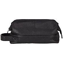 Buy Smith & Canova Leather Wash Bag, Black Online at johnlewis.com