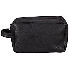 Buy Smith & Canova Double Zip Wash Bag, Black Online at johnlewis.com