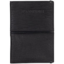 Buy Smith & Canova Passport Cover, Black Online at johnlewis.com