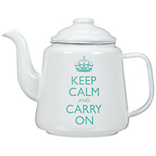 Buy Keep Calm And Carry On Enamel Teapot, 1.4L Online at johnlewis.com