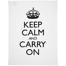 Buy Keep Calm And Carry On Tea Towel Online at johnlewis.com