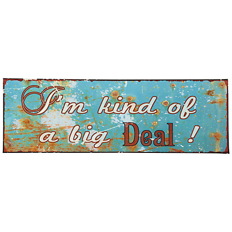Buy John Lewis Big Deal Plaque, 13 x 39cm Online at johnlewis.com