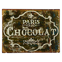 Buy John Lewis Chocolat Plaque, 26.3 x 35cm Online at johnlewis.com