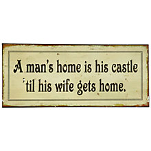 Buy John Lewis Man's Castle Plaque, 12.8 x 30.5cm Online at johnlewis.com