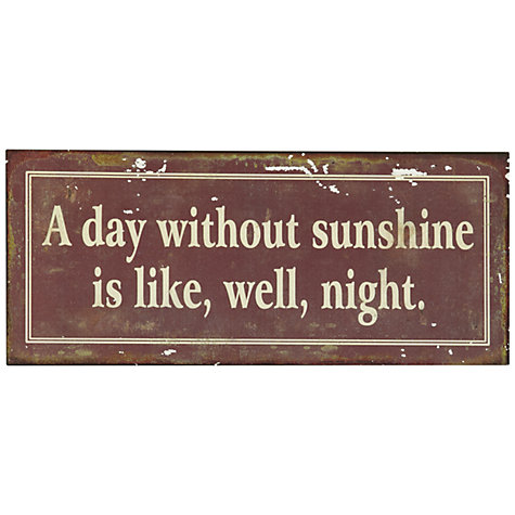Buy John Lewis Sunshine Plaque, 12.8 x 30.5cm Online at johnlewis.com