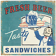 Buy John Lewis Tasty Sandwich Plaque, 30.5 x 30.5cm Online at johnlewis.com
