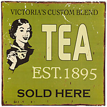Buy John Lewis Tea Plaque, 30.5 x 30.5cm Online at johnlewis.com