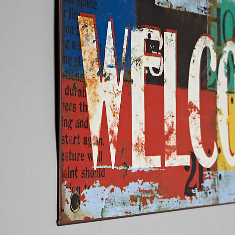 Buy John Lewis Welcome Multi Plaque, 17.7 x 45.6cm Online at johnlewis.com