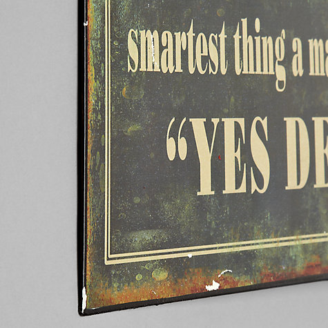 Buy John Lewis Yes Dear Plaque, 12.8 x 30.5cm Online at johnlewis.com