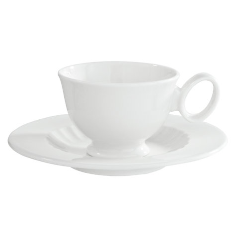 Buy Designers Guild White Fine China Espresso Cup and Saucer, 90ml Online at johnlewis.com