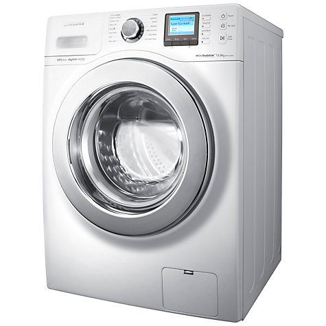 Buy Samsung WF1124XAC ecobubble™ VRT Washing Machine, 12kg Load, A+++ Energy Rating, 1400rpm Spin, White Online at johnlewis.com