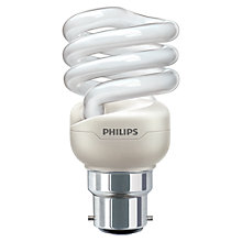 Buy Philips 12W BC Energy Saver Spiral Bulb Online at johnlewis.com