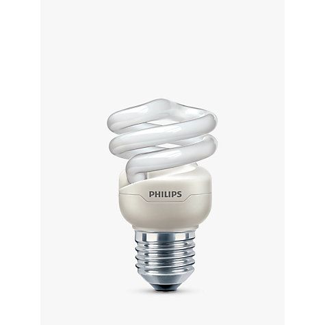 Buy Philips 8W ES Energy Saver Spiral Bulb, Opal Online at johnlewis.com