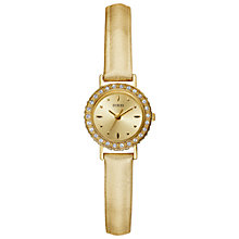 Buy Guess W90074l1 Women's Elite Gold Leather Watch Online at johnlewis.com